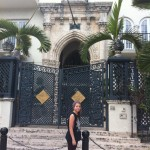 Rylee in front of the Versache Mansion
