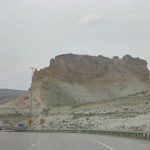 Driving through Wyoming's interesting landscape