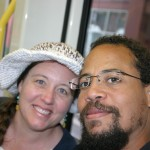 On our first Portland train ride
