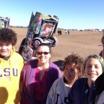 Next morning, stopped at the Cadillac Ranch in Amarillo on our way out of town.