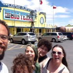 Drove all night, just got to Amarillo around 1PM.  Stopped for steak at the Big Texan.