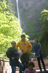 First stop, Multnomah Falls.  30 minutes from home.