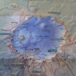 Crater Lake Map from the National Park Entrance booth
