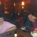 Enjoying the evening at the lodge