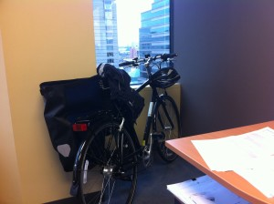 My Jamis Commuter 3 in the office with me